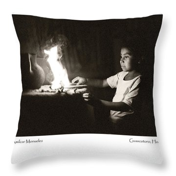 Throw Pillow featuring the photograph Amilcar Monueles by Tina Manley