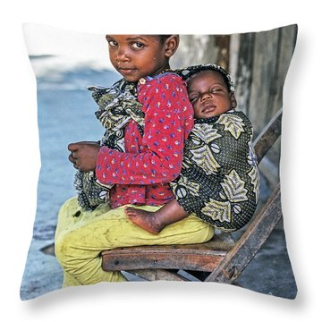 Throw Pillow featuring the photograph Amali And Mosi by Tina Manley