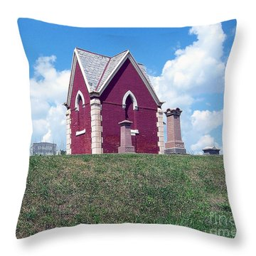 Throw Pillow featuring the photograph Amish Cemetery by Gena Weiser