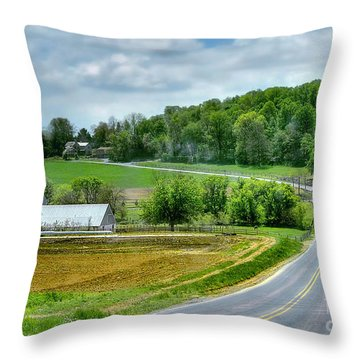Amish Countryside Throw Pillow
