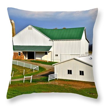 Amish Living Throw Pillow by Frozen in Time Fine Art Photography