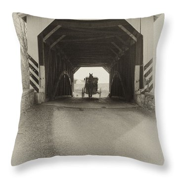 Amish Region - Vintage Throw Pillow