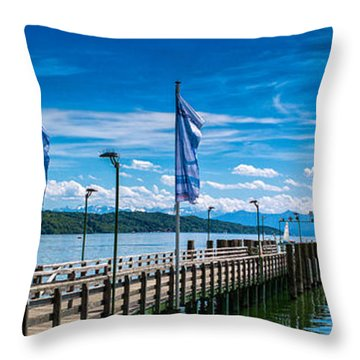 Throw Pillow featuring the photograph Ammersee - Lake In Bavaria by Juergen Klust