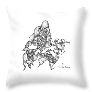 Amoeba Dancers Throw Pillow
