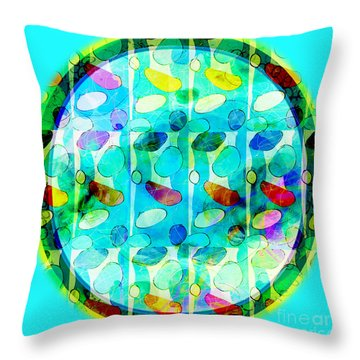 Amoeba Plate Throw Pillow