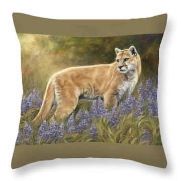Among The Flowers Throw Pillow