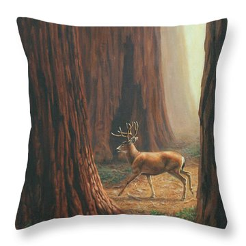 Sequoia Trees - Among The Giants Throw Pillow