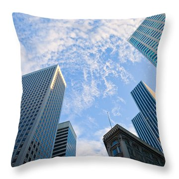 Throw Pillow featuring the photograph Among The Giants by Jonathan Nguyen