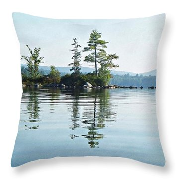 Among The Islands Throw Pillow