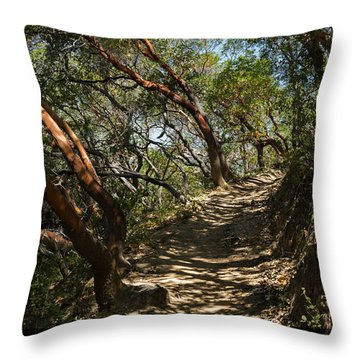 Among The Madrone Throw Pillow