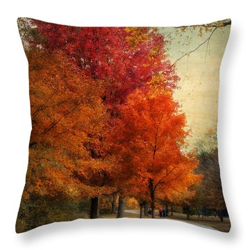 Among The Maples Throw Pillow by Jessica Jenney