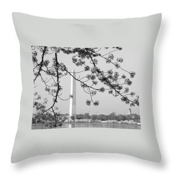Amongst The Cherry Blossoms Throw Pillow