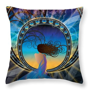 Throw Pillow featuring the digital art Amore E Nostalgia by Kenneth Armand Johnson