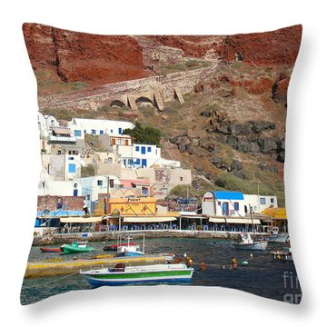 Amoudi Bay Throw Pillow by Suzanne Oesterling