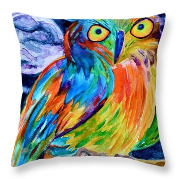 Ampersand Owl Throw Pillow