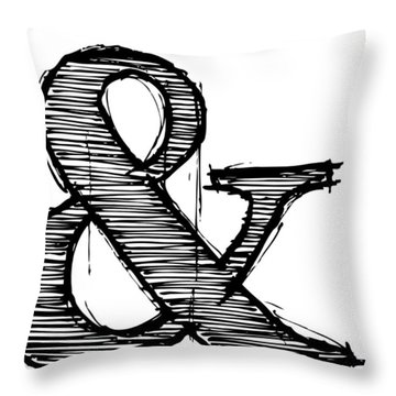 Ampersand Poster 1 Throw Pillow by Naxart Studio