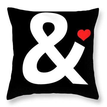 Ampersand Poster 4 Throw Pillow by Naxart Studio