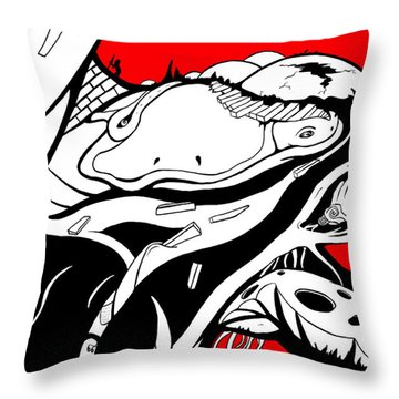 Amphibious Throw Pillow