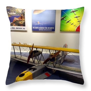 Amphibious Plane And Era Posters Throw Pillow