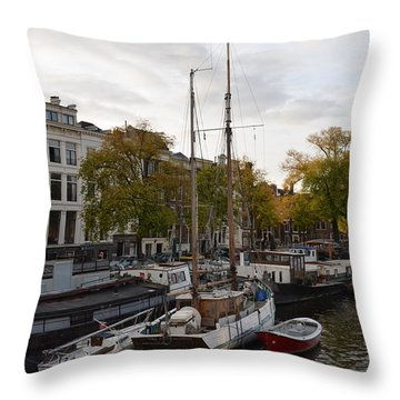 Amstel River Throw Pillow by Cheryl Miller