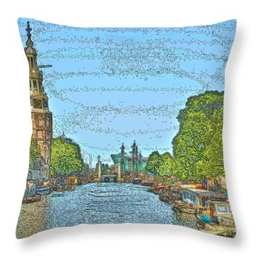 Throw Pillow featuring the photograph Amsterdam 2 by Steven Richman
