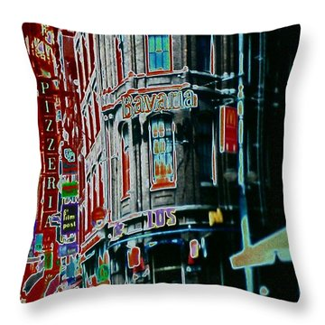 Amsterdam Abstract Throw Pillow