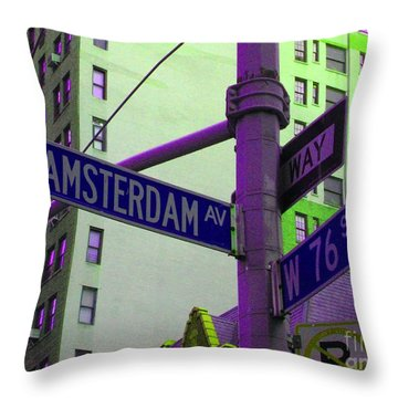 Amsterdam Avenue Throw Pillow