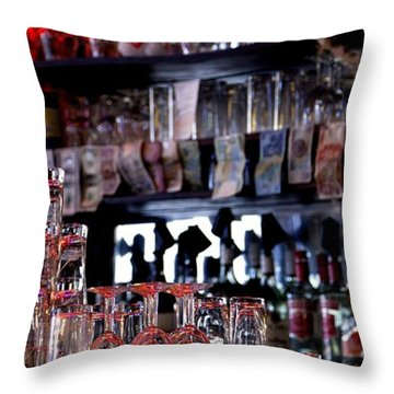 Throw Pillow featuring the photograph Amsterdam Beer Glasses by Mick Flynn