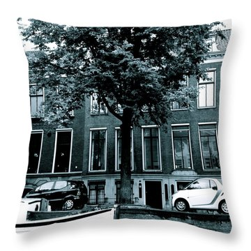 Amsterdam Electric Car Throw Pillow by Cheryl Miller