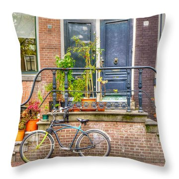 Amsterdam Facade Throw Pillow