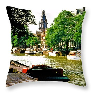 Throw Pillow featuring the photograph Amsterdam by Ira Shander