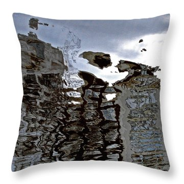 Throw Pillow featuring the photograph Amsterdam Reflections 2 by Andy Prendy