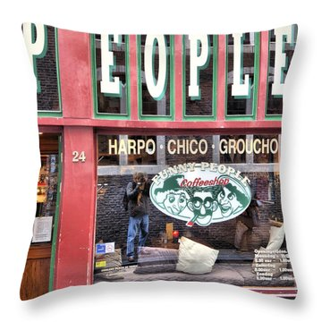 Amsterdam Self Portrait Throw Pillow by Mick Flynn