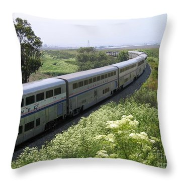 Coast Starlight At Dolan Road Throw Pillow