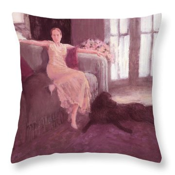 Amy And Bogey Throw Pillow