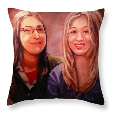 Amy And Penny Throw Pillow