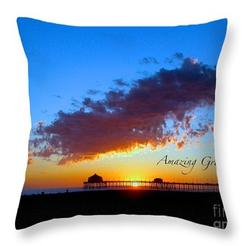 Throw Pillow featuring the photograph Amzing Grace 7 by Margie Amberge