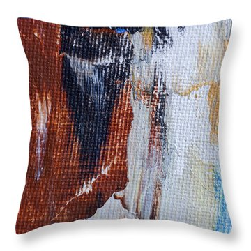 Throw Pillow featuring the painting An Abstract Sort Of Weekend by Heidi Smith