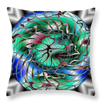 Throw Pillow featuring the painting An Active Abstract by Mario Carini