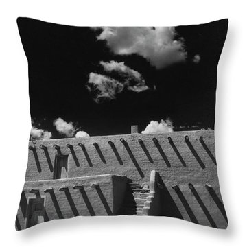 An Adobe House Throw Pillow