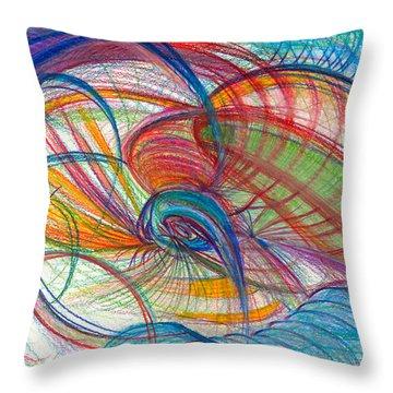 An Affair Of Energy Throw Pillow