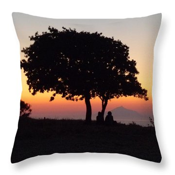 Throw Pillow featuring the photograph An African Sunset by Vicki Spindler