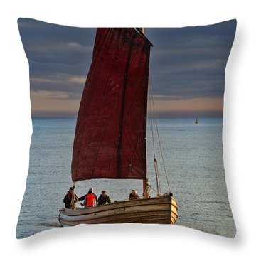 An Afternoon's Sail Throw Pillow