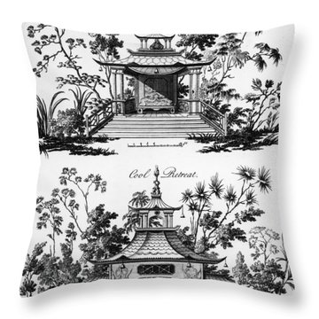 An Alcove And A Cool Retreat Throw Pillow by Paul Decker