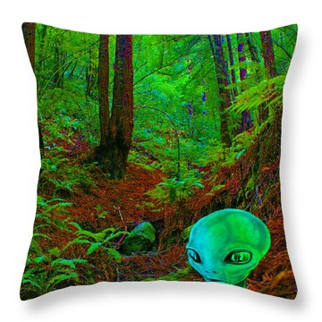 Throw Pillow featuring the photograph An Alien In A Cosmic Forest Of Time by Ben Upham III