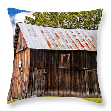 An American Barn 2 Throw Pillow