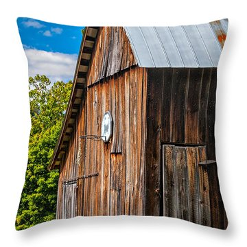An American Barn Throw Pillow by Steve Harrington