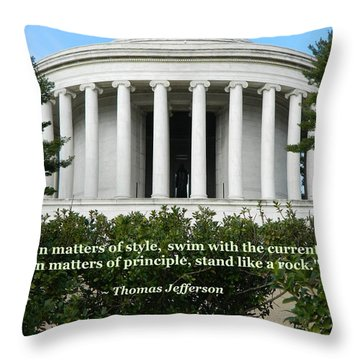 An American Founding Father Throw Pillow by Emmy Marie Vickers