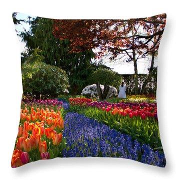 An Angel In Eden Throw Pillow by Eti Reid