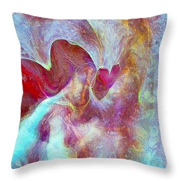 An Angels Love Throw Pillow by Linda Sannuti